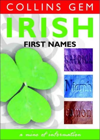9780004723471: Irish First Names (Collins Gem)