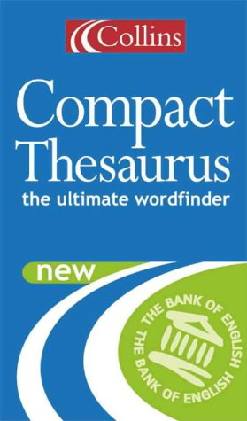 9780004723488: Collins Compact Thesaurus- The Ultimate Wordfinder