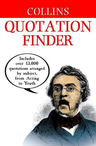 9780004723846: Collins Quotation Finder (Dictionary)