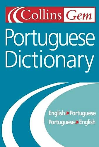 9780004724096: Collins Gem Portuguese Dictionary English-Portuguese, Portuguese-English, Pocket size