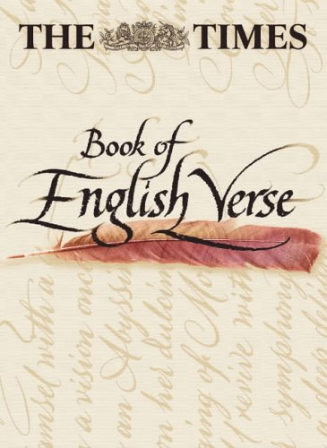 9780004724508: The Times Book of English Verse