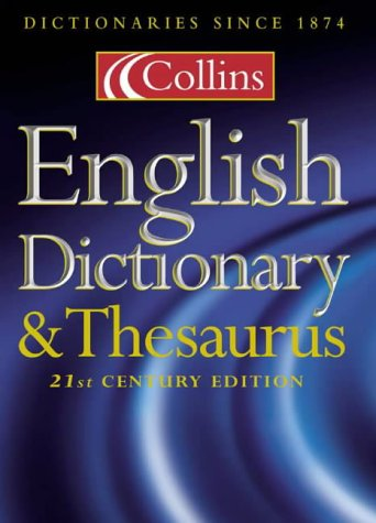 9780004725031: Collins English Dictionary and Thesaurus (Dictionary/Thesaurus)