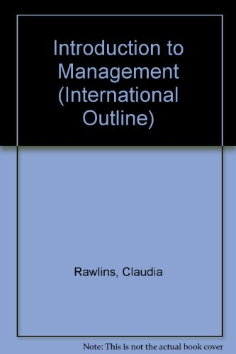9780004990163: Introduction to Management (International Outline)