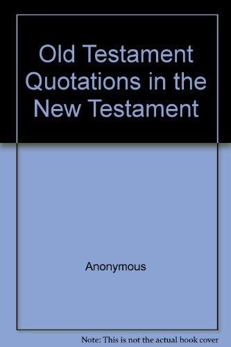 9780005003084: Old Testament Quotations in the New Testament