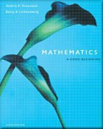 9780005131657: Mathematics: A Good Beginning-TEXT ONLY