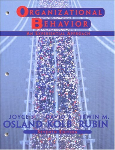 9780005437438: Organizational Behavior - An Experiential Approach (7th Seventh Edition) - Osland, Kolb, & Rubin