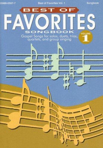 9780005465271: Best of Favorites Songbook, Volume 1