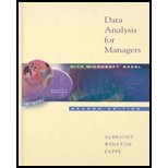 9780005553466: Data Analysis for Managers with Microsoft Excel - Textbook Only