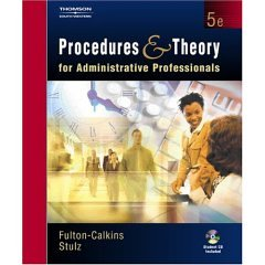 Procedures & Theory for Administrative Professionals- Text Only (0005692881) by Patsy Fulton-Calkins