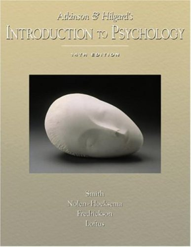 9780005834251: Atkinson and Hilgard's Introduction to Psychology (14th Edition) Text Only