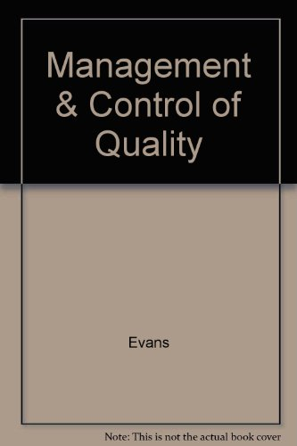 9780005987728: Management & Control of Quality