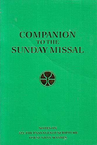 9780005990728: Companion to the Sunday Missal
