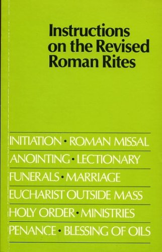 9780005996317: Instructions on the Revised Roman Rites