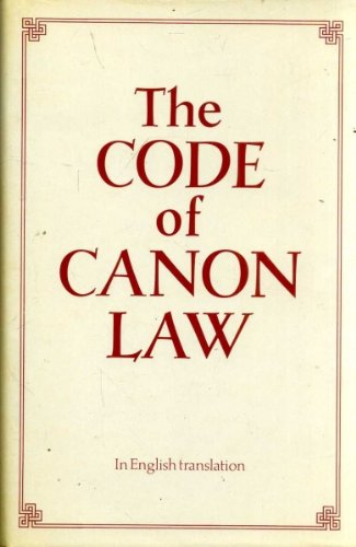 9780005997505: The Code of Canon Law