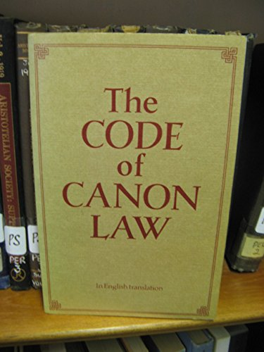 9780005997574: New Code of Canon Law