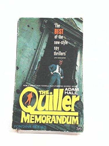 9780006114420: The Quiller Memorandum) (Quiller 1)