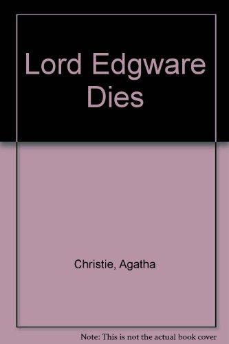 9780006120360: Lord Edgware Dies