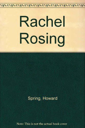 9780006126713: Rachel Rosing