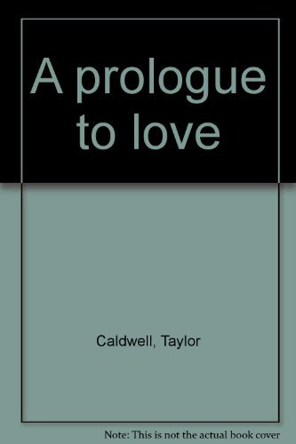 9780006150183: A prologue to love