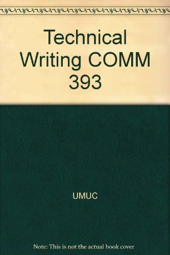 Technical Writing COMM 393: UMUC