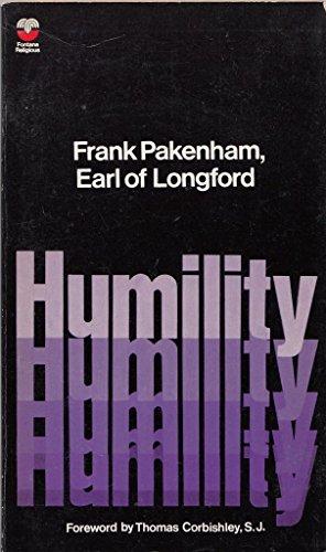 9780006221210: Humility (Fontana religious)