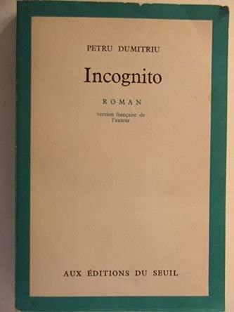9780006251330: Incognito