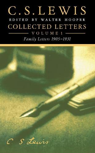 9780006281450: Collected Letters Volume One: Family Letters 1905-1931