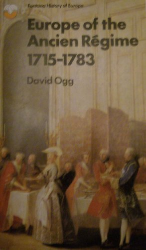 9780006324232: Europe of the Ancien Regime 1715-1783