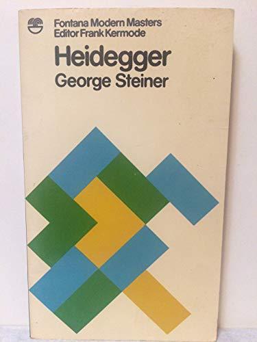 9780006333241: Heidegger (Modern Masters S.)