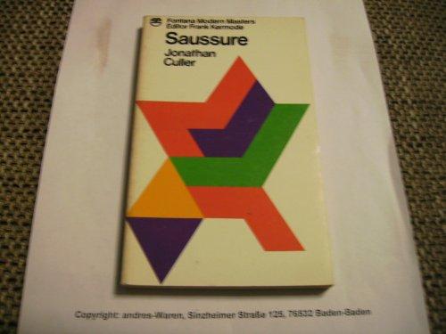 9780006337430: Saussure (Fontana Modern Masters)