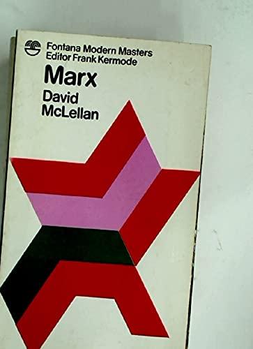 9780006338338: Marx (Modern Masters)