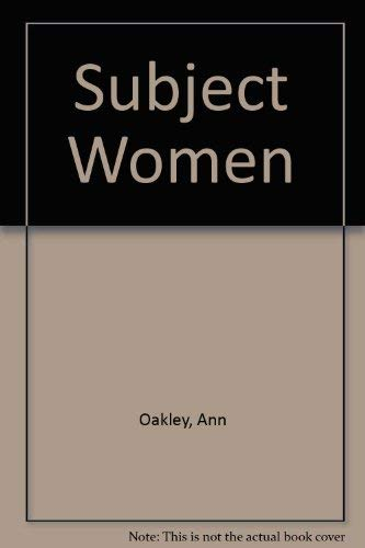 9780006357308: Subject Women