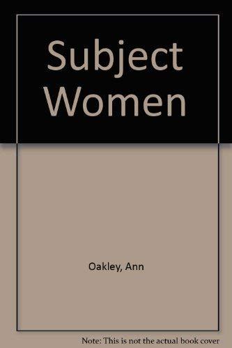 9780006357308: Subject Women