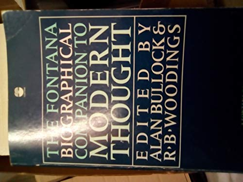 9780006358473: Fontana Biographical Companion to Modern Thought