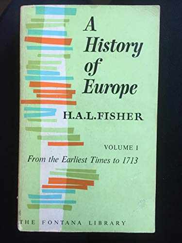 9780006365068: History of Europe Volume 1