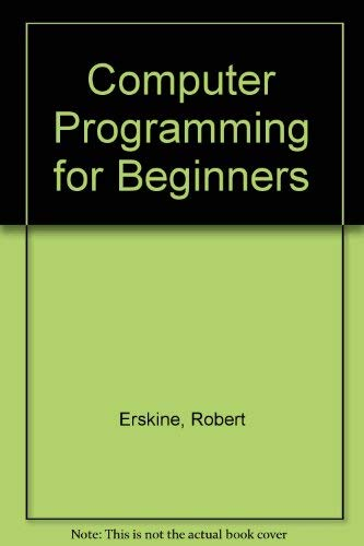 9780006367420: Computer Programming for Beginners
