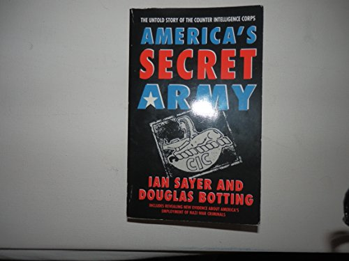 9780006369868: America's Secret Army: Untold Story of the Counterintelligence Corps