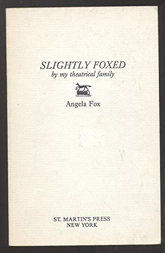 9780006371472: Slightly Foxed