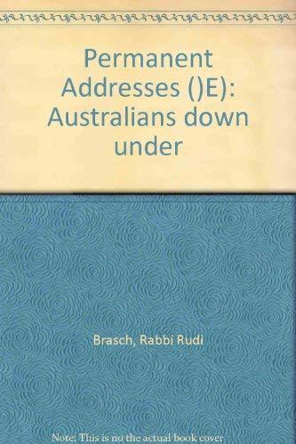 9780006371847: Permanent Addresses ()E): Australians down under