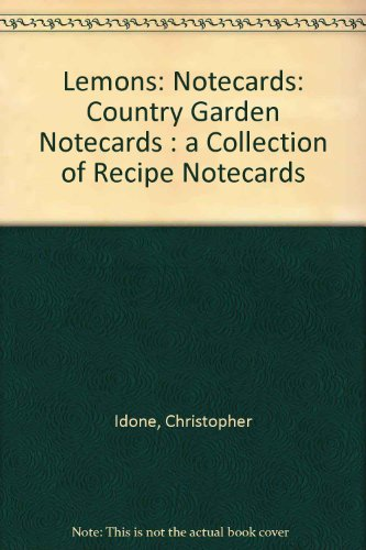 9780006383093: Lemons: Country Garden Notecards : A Collection of Recipe Notecards