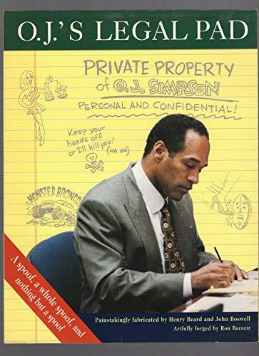 9780006387381: O.J.Simpson's Legal Pad