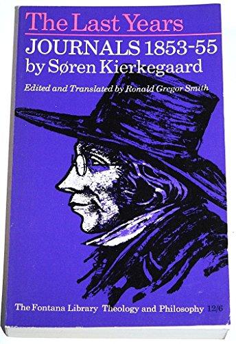 9780006418306: Last Years: Journals, 1853-55