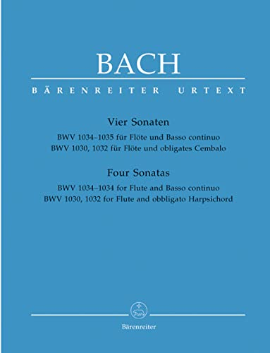 9780006447993: Bach: Four Sonatas for Flute and Continuo BWV1030, 1032, 1034, 1035