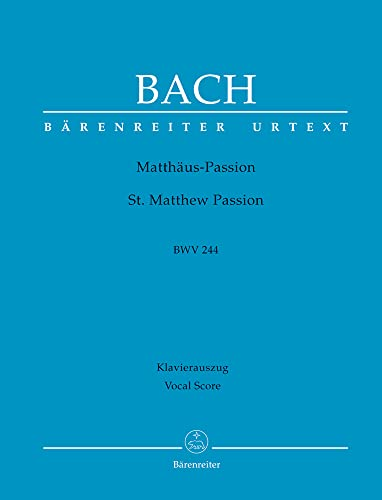 9780006462422: Mattauspassion / St. Matthew Passion BWV 244: Klavierauszug / Vocal Score