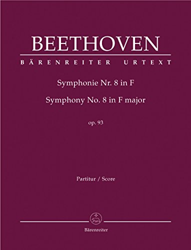 9780006500445: Symphony No. 8 in F Major: Baerenreiter Full Score