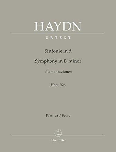 9780006558873: BARENREITER HAYDN J. - SYMPHONY IN D MINOR LAMENTAZIONE Hob. I:26 - SCORE Classical sheets Full score