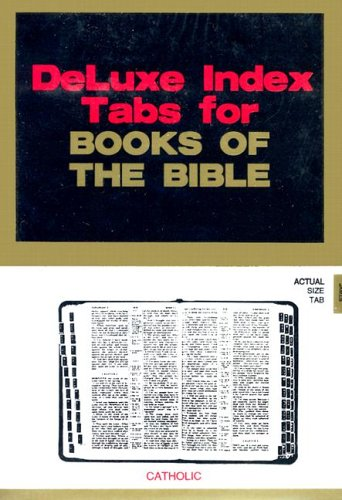 9780006560937: Bible Tab -- Catholic: Black Foil Tab W/Gold Lettering