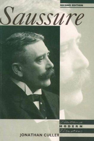 9780006860327: Saussure (Modern Masters)