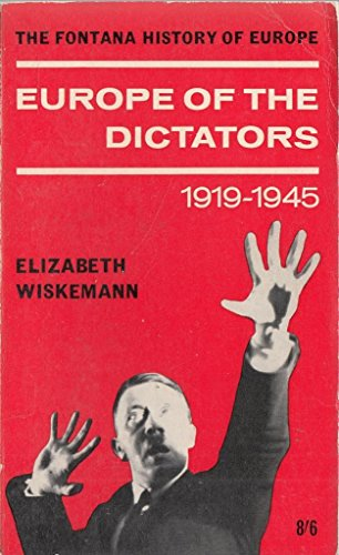 9780006860686: Europe of the dictators, 1919-1945 (Fontana history of Europe)
