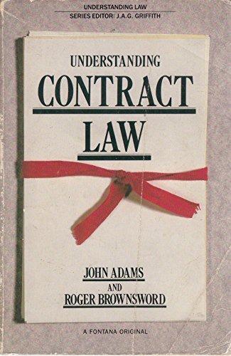 Understanding Contract Law (Understanding Law): John N. Adams,